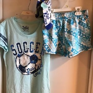 NWT Three piece soccer set for girls